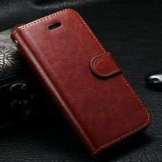 Trendy leren iPhone hoesjes - #leather case for iphone 5s   Leather Cases for iPhone SE 5S Phone Case for Apple iphone 5 6 6S 6Plus 6S Plus Flip Wallet Case Cover - http://www.telefoonhoesjes-shop.blogspot.nl/