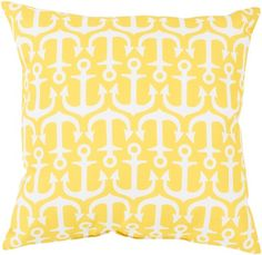 A Collection of Anchors Pillow - Snapdragon Yellow