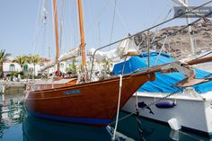 Beautiful sailboat in Puerto Rico, Gran Canaria, Spain...    via pinterest...