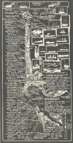 Shipwrecks Near Columbia River (1938)