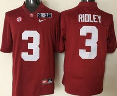 Men's Alabama Crimson Tide #3 Calvin Ridley Red 2016 BCS College Football Limited Jersey