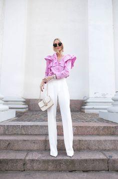H&M Top / Zara Pants | Metti Forssell | Elle