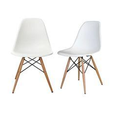 Réplica de la superventas silla Eames DSW plastic chair, uno de los modelos más vendidos del prestigioso diseñador. Asiento en carcasa de ABS en color elegido y patas en madera de haya.  Pedido mínimo: Unidades pares.