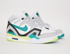 #Nike Air Tech Challenge II Turbo Green #sneakers