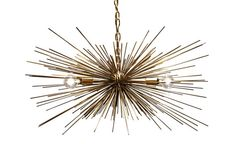 Gold Urchin Chandelier Lighting by Stimulight on Etsy, $399.00