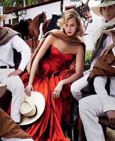 Karlie Kloss by Mario Testino for Vogue September 2014
