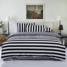 Find More Bedding Sets Information about 2016 New Drop Ship Bedding Set Twin/Full/Queen Size Duvet Cover Set Classic Black and White Bed Sheet Sets Home Textile,High Quality bed bamboo,China textile sewing Suppliers, Cheap bed textile from Lena Small Wholesale Shop on Aliexpress.com