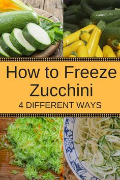 Gardening Vegetables Here's how to freeze zucchini 4 different ways: whole, sliced, shredded and noodles. They'll be ready for cooking and baking delicious healthy recipes in the cooler months. Great for low carb and gluten free recipes. Parmesan Zucchini Chips, Zucchini Zoodles, Zucchini Sticks, Grilled Zucchini, Freezing Vegetables, Frozen Vegetables, Fruits And Veggies, Gardening Vegetables, Freezing Squash