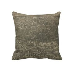 Vintage Pictorial Map of Denver Colorado (1887) Pillows from Zazzle.com $62.40