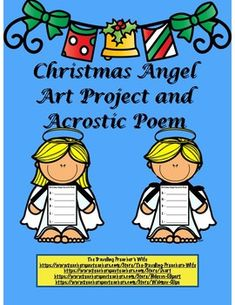 Thank you so much for you interest in the Christmas Angel Art Project and Acrostic Poem. It is a fun Christmas activity with a Christiantheme.  It comes with a boy and a girl angel.I truly hope you enjoy using this packet.  If you have any questions or concerns, please contact me @ thetravelingpreacherswife@yahoo.com