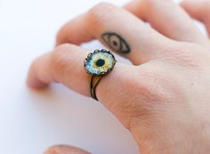 Evil eye tiny tat