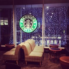 Imagine looking out the window of this Starbucks on a rainy day. The perfect place to curl up with a great book!