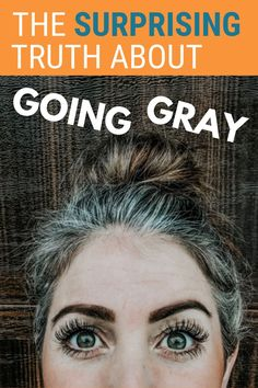 Do you know any women who have ditched the dye and embrace their gray hair? You might be surprised to hear their thoughts on the gray hair transition process. Hint: It& not just about HAIR - but so much more. Grey Curly Hair, Short Grey Hair, Curly Hair Styles, How To Dye Brown Hair Grey, Best Gray Hair Dye, Brown Hair Going Grey, Gray Hair Growing Out, Grow Hair, Highlights Around Face