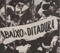 Abaixo a Ditadura - Brasil.