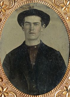From Maine to Kentucky: Wordless Wednesday ~ Unknown Man, Tintype #genealogy