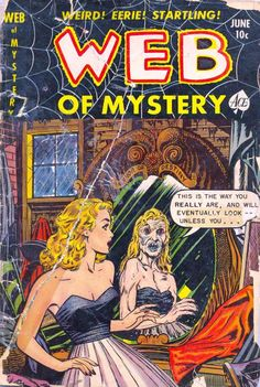 Comic Book Cover For Web of Mystery #10