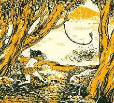 """summer dip"" by Nate Beaty, cartoonist, Chicago."