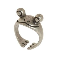 """Call it a frog, call it a toad - whatever you call it, make sure to include the word """"cute!"""" This big eye-ed lil guy peeks out at the world while he sits on Vintage Bohemian, Retro Vintage, Cute Jewelry, Jewelry Accessories, Jewelry Box, Cute Frogs, Accesorios Casual, Toad, Swagg"""