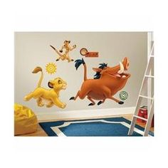 RoomMates RMK1922GM The Lion King Peel & Stick Giant Wall Decals