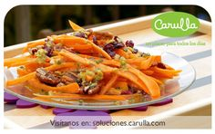 Ensalada de zanahoria con arándanos y nueces