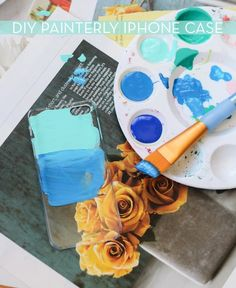 #diy painterly iphone case