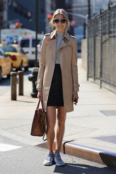 The classic camel trench? Thumbs up.