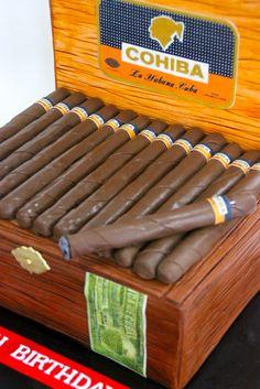 Cigar Box cake ~ better to eat them than smoke them!