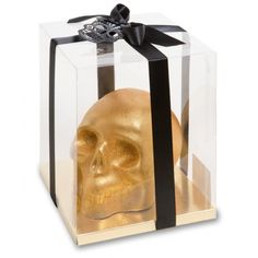 Golden Chocolate Skull by Artisan du Chocolat, London for Halloween Creepy.