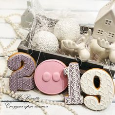 Happy New Year 2019 : QUOTATION – Image : Quotes Of the day – Life Quote 2019 Happy New Year Cookies to Celebrate with Families; New Year's Eve Cookies; Happy New Year; Pig Cookies, Iced Cookies, Cute Cookies, Cupcake Cookies, Cookies Et Biscuits, Cupcakes, Cookie Icing, Royal Icing Cookies, Gingerbread Cookies