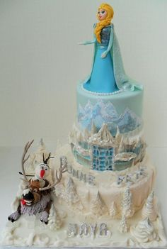 Frozen B-day Cake  - Cake by Albena