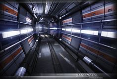 Sci-Fi Corridor Futuristic Environment by ~jacob07777 on deviantART