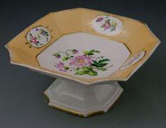 Old Paris Porcelain Octagonal Compote, Mid 19th C.