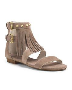 cb499f753f5a MICHAEL Michael Kors Billy Studded Fringe Sandal. Michael Kors Flats