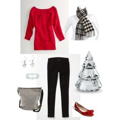"""Holiday Casual"" by bluehydrangea on Polyvore"
