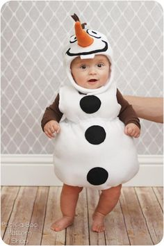 Olaf Baby Halloween Costume | AllFreeSewing.com