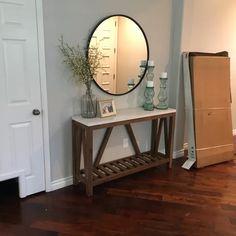 Entrance Hall Decor, Hallway Table Decor, Entryway Console Table, Hallway Decorating, Entryway Decor, Entry Table Mirror, Entryway Mirror, Decorating Ideas, Decor Ideas