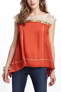 trapeze shape... Branched Copper Pullover - Anthropologie.com