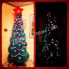 Christmas three lighting in my House #Balloon #balloons #balloonart #balloonexpress #balloonchristmas #balloonItalianStyle #balloonexpressshopgiarrect #qualatex #palloncini #palloni #christmaspassion #christmasthree #theme