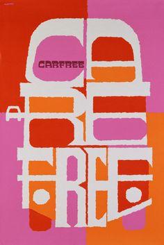 Abram Games - Carfree, Carefree, 1967