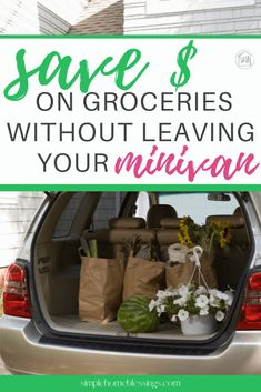 tips and tricks for saving money while using Walmart Grocery pick-up service; easily save money without leaving your minivan