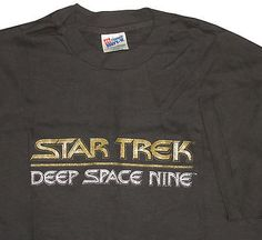 Star Trek Deep Space Nine Black T-shirt XL New