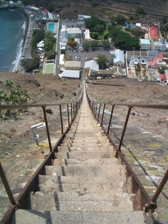 Jacobs Ladder - Worlds longest staircase. 699 steps in St. Helena.