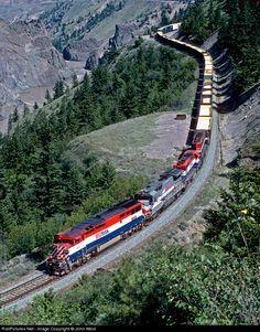 RailPictures.Net Photo: BCOL 4626 BC Rail GE C40-8M (Dash 8-40CM) at Lilloet, British Columbia, Canada by John West