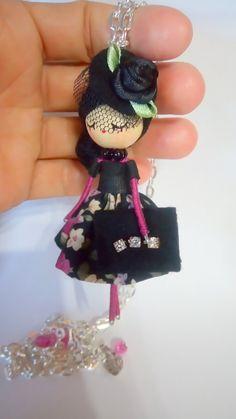 Necklace jewelry doll OOAK by Delafelicidad on Etsy