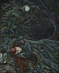 """""""Winter's Sleep"""" is inspired by the idea of how beneath the blanket of winter the world sleeps and rests waiting for spring to return. Art And Illustration, Arte Punk, The Artist, Witch Art, Wow Art, Oeuvre D'art, Faeries, Magick, Wicca"""