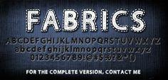 Fabrics Font | dafont.com