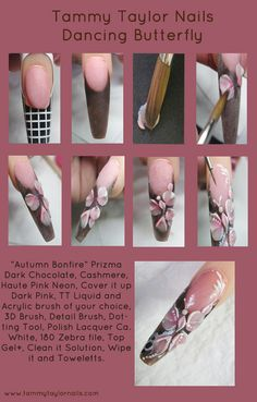 Tammy Taylor Nails Dancing Butterfly Nails