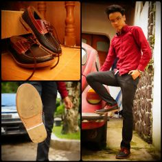 ryan with our handmade leather shoes