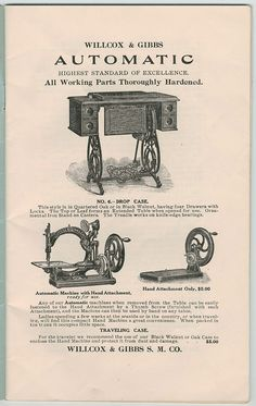 Wilcox & Gibbs Automatic Sewing Machine