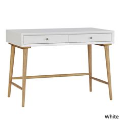 MID-CENTURY LIVING Marin Danish Modern 2-drawer Writing Desk | Overstock.com Shopping - The Best Deals on Desks